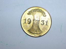 ALEMANIA 1 REICHPFENNIG 1931 D DORADA (1160) - [ 4] 1933-1945 : Tercer Reich
