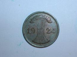 ALEMANIA 1 REICHPFENNIG 1924 A (1167) - 2 Rentenpfennig & 2 Reichspfennig