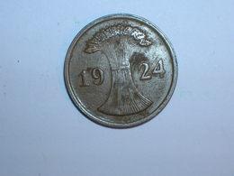 ALEMANIA 1 REICHPFENNIG 1924 D (1168) - 2 Rentenpfennig & 2 Reichspfennig