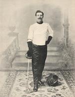 Professeur Conte Gagnant Du Tournoi De Sabre De L' Exposition  1900 - Esgrima