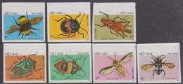 VIETNAM (1986) Insects. Set Of 7 Imperforates. Scott Nos 1705-11, Yvert Nos 750-6. - Vietnam