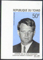 CHAD (1969) R.F. Kennedy. Imperforate Corner Copy. Scott No C55, Yvert No PA59. - Tschad (1960-...)