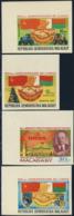 MADAGASCAR (1982) USSR 60th Anniversary. Set Of 4 Corner Imperforates. Scott Nos 656-9 - Madagaskar (1960-...)