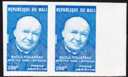 MALI (1974) Follereau. Imperforate Pair. Scott No C234, Yvert No PA229. - Mali (1959-...)