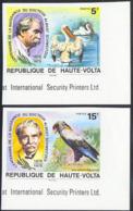 UPPER VOLTA (1975) Schweitzer. Birds. Set Of 5 Imperforates. Scott Nos 368-9,C212-4. Yvert Nos 357-8,PA190-2. - Obervolta (1958-1984)