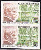 NIGER (1975) Albert Schweitzer. Imperforate Pair. Scott No 322, Yvert No 327. - Niger (1960-...)
