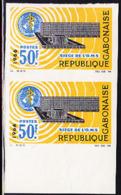 GABON (1966) WHO Building. Imperforate Pair. Scott No 193, Yvert No 192. - Gabun (1960-...)