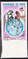 NIGER (1964) Leprosy Exam. Microscope. Imperforate. Scott No 150, Yvert No 156. - Niger (1960-...)