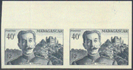MADAGASCAR (1954) Marshall Lyautey. Imperforate Pair. Scott No 291, Yvert No 326. - Madagaskar (1960-...)