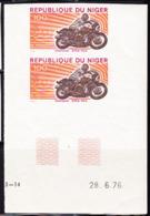 NIGER (1976) BMW 905. Imperforate Pair. Scott No 361, Yvert No 371. - Niger (1960-...)