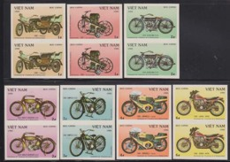 VIETNAM (1985) Motos. Set Of 8 Imperforate Pairs. Scott Nos 1515-21, Yvert Nos 591-7. - Vietnam