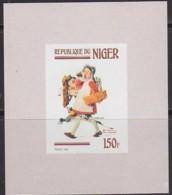 NIGER (1982) Norman Rockwell Painting - Girl Shopper. Imperforate Minisheet. Scott No 602, Yvert No 590. - Niger (1960-...)