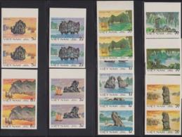 VIETNAM (1984) Rock Formations. Set Of 10 Imperforate Pairs. Scott Nos 1418-27, Yvert Nos 252A-K. - Vietnam