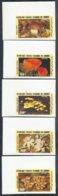 COMORO ISLANDS (1985) Mushrooms. Set Of 5 Imperforates. Scott Nos 357-61, Yvert Nos 435-9. - Komoren (1975-...)