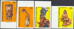 GABON (1983) Native Instruments. Set Of 4 Imperforates. Scott Nos 543-6, Yvert Nos 541-4. - Gabun (1960-...)