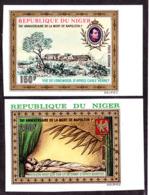 NIGER (1971) Napoleon. Set Of 2 Imperforates. Scott Nos C156-7, Yvert Nos PA157-80. - Niger (1960-...)