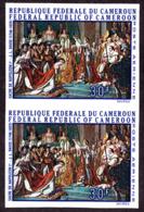CAMEROUN (1969) Coronation Of Napoleon. Imperforate Pair. Scott No C125, Yvert No PA136. - Camerun (1960-...)