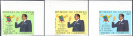 CAMEROUN (1984) President Taking Oath (in English & French). Set Of 6 Imperforates. Scott Nos C316-8 - Camerun (1960-...)