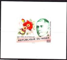 NIGER (1977) Maeterlinck. Bee. Flower. Imperforate Minisheet. Nobel Prize For Literature. Scott No 407, Yvert No 412. - Niger (1960-...)