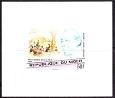 NIGER (1977) Luthuli. Imperforate Minisheet. Nobel Prize For Peace. Scott No 406, Yvert No 411. - Niger (1960-...)