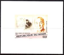 NIGER (1977) Hodgkin. Imperforate Minisheet. Nobel Prize For Medicine. Scott No 408, Yvert No 413. - Niger (1960-...)