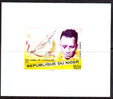 NIGER (1977) Albert Camus. Imperforate Minisheet. Nobel Prize For Literature. Scott No 409, Yvert No 414. - Niger (1960-...)