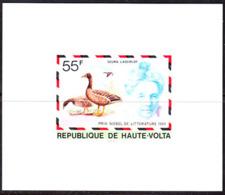 UPPER VOLTA (1977) Selma Lagerlof. Birds. Imperforate Minisheet. Scott No 440, Yvert No 428. - Obervolta (1958-1984)