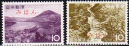 JAPAN (1964) Ise-Shima National Park. Set Of 2 Overprinted MIHON (specimen). Scott Nos 808-9, Yvert Nos 768-9. - Japan