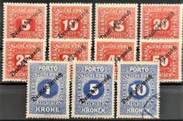 AUSTRIA 1918 - Canceled - ANK 64-74 - Complete Set! - Portomarken - Portomarken