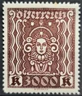 AUSTRIA 1922/24 - MNH - ANK 406 - 3000K - Neufs