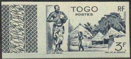 TOGO (1947) Atakpame Village. Trial Color Proof. Scott No 318, Yvert No 245. - Togo (1960-...)
