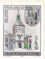AUSTRIA (1984) Vocklabruck 850th Anniversary. Black Print. Scott No 1276, Yvert No 1608. - Probe- Und Nachdrucke