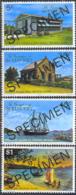 ST. VINCENT (1976) Scenes From Maryeau Island. Set Of 4 Overprinted SPECIMEN. Scott Nos 112-5 - St.-Vincent En De Grenadines