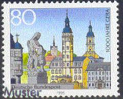 GERMANY (1995) Gera Millennium. Overprinted MUSTER (specimen). Scott No 1881, Yvert No 1604. - Varietà