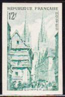 FRANCE (1954) Guimper. Trial Color Proof. Scott No 722, Yvert No 979. - Probedrucke