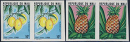 MALI (1979) Fruits. Complete Set Of 5 Imperforate Pairs. Scott Nos 340-4, Yvert Nos 339-43. - Mali (1959-...)