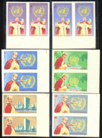 TOGO (1965) Paul VI. UN Emblem. Set Of 6 Imperforate Pairs. Scott Nos 549-52,C49-50. Yvert Nos 47-80,PA51-2. - Togo (1960-...)