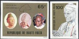 UPPER VOLTA (1980) John-Paul II. Set Of 2 Imperforates. Scott Nos 528-9, Yvert Nos 511-2. - Obervolta (1958-1984)