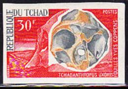 CHAD (1966) Reconstructed Skull Of Chadanthropus. Imperforate.  Scott No 133. Yvert No 131. - Tschad (1960-...)