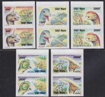 VIETNAM (1996) Dinosaurs. Set Of 5 Imperforate Pairs. Scott Nos 2666-73. - Vietnam