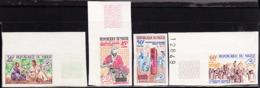 NIGER (1965) Radio Interview. Set Of 4 Imperforates. Radio Clubs Promotion. Scott Nos 163-6, Yvert Nos 169-72. - Niger (1960-...)