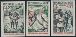 NIGER (1967) Nurse. Doctor. Set Of 3 Imperforates. Scott Nos 199-201, Yvert Nos 202-4. - Niger (1960-...)