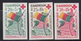 CAMEROUN (1960) Flag. Map. Set Of 3 Imperforates. Scott Nos B30-2, Yvert Nos 314-6. - Camerun (1960-...)