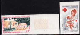 CAMEROUN (1965) Ambulance. Nurse. Set Of 2 Imperforates. Scott Nos 413-4, Yvert Nos 394-5. - Camerun (1960-...)