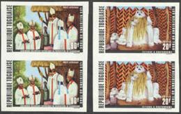 TOGO (1971) Religions De Togo. Séries De 6 Paires Non Dentelé. Yvert Nos 719-21,PA164-6. Scott Nos 785-7,C159-61. - Togo (1960-...)