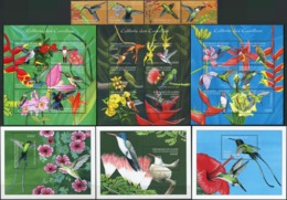 GUINEA 2001 Caribbean Hummingbirds Birds Animals Fauna MNH - Colibris