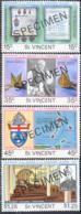 ST. VINCENT (1977) Windward Islands Diocese Centenary. Set Of 4 Overprinted SPECIMEN. Scott Nos 495-8 - St.Vincent (1979-...)
