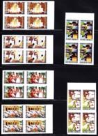 TOGO (1971) Religions De Togo. Séries De 6 Blocs De 4 Non Dentelé. Yvert Nos 719-21,PA164-6. Scott Nos 785-7,C159-61. - Togo (1960-...)