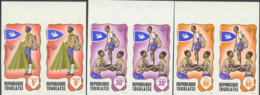 TOGO (1968) Scouts. Set Of 7 Imperforate Pairs. Scott Nos 656-60,C97-8. Yvert Nos 588-92,PA100-1. - Togo (1960-...)