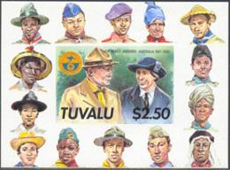 TUVALU (1988) Scouts. Imperforate Souvenir Sheet. Scott No 464, Yvert No BF29. - Tuvalu